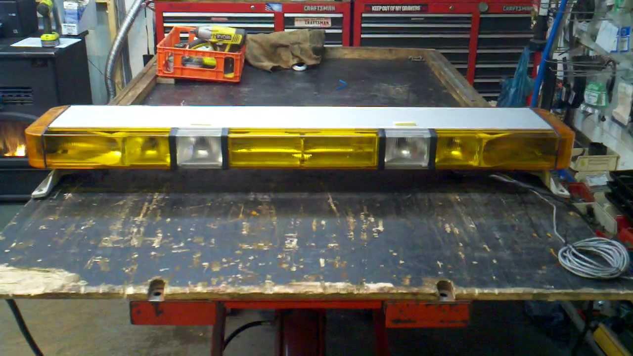 """Whelen Edge 9000 50"""" Amber 10 Strobe 8 Halogen With Pcds-9 - Whelen Light Bar Wiring Diagram"""