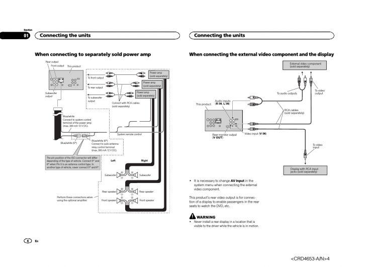 Pioneer Avh-X1500Dvd Wiring Diagram