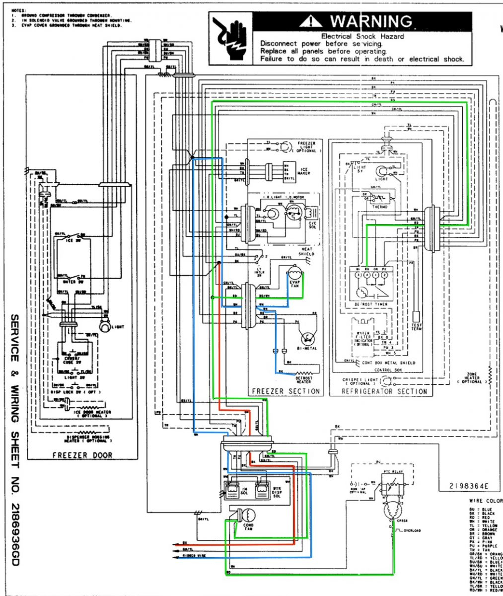 Whirlpool Ed25Rfxfw01 Refrigerator Wiring Diagram - The - Whirlpool Refrigerator Wiring Diagram