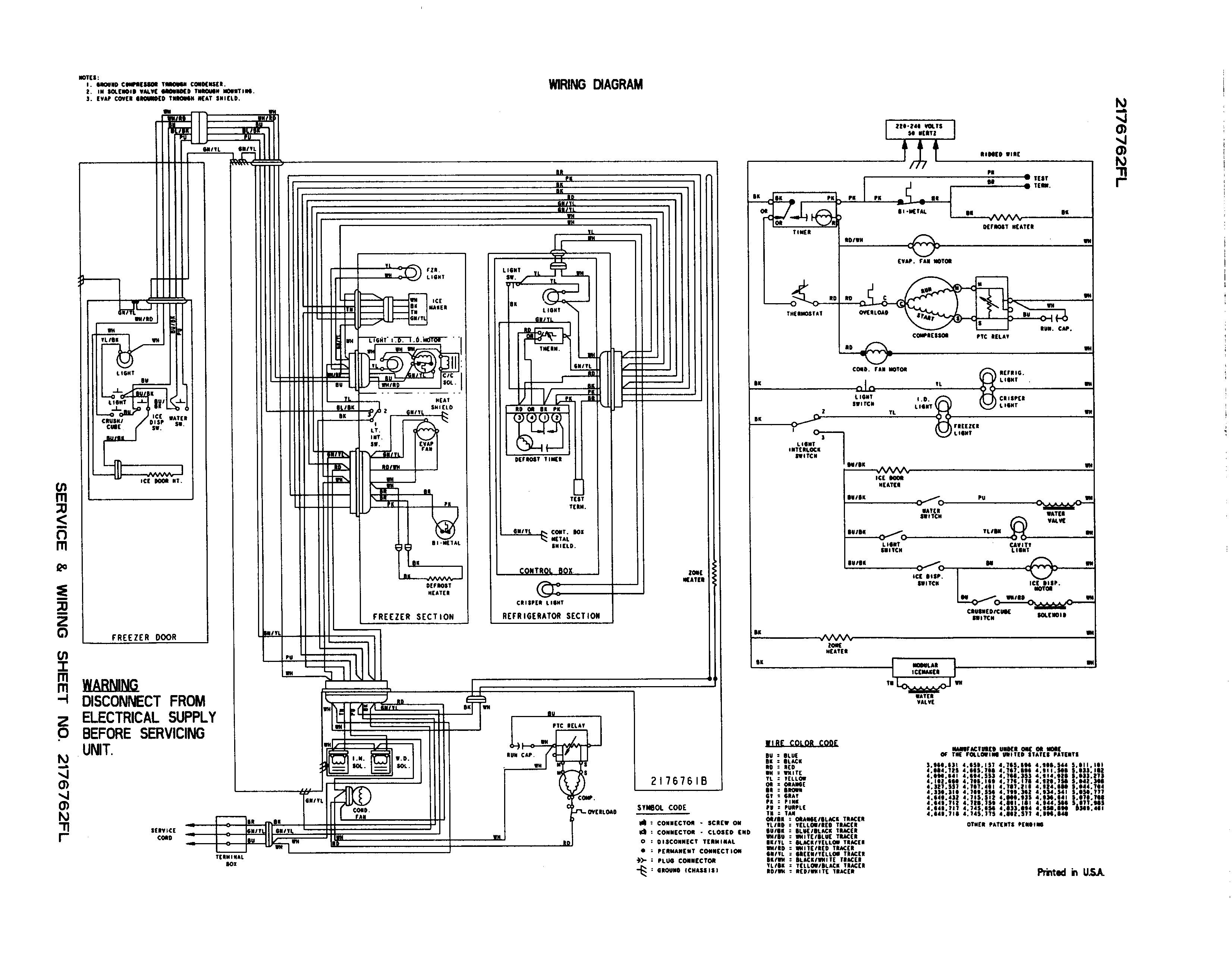 Whirlpool Gold Refrigerator Wiring Diagram | Wiring Diagram - Refrigerator Wiring Diagram Pdf