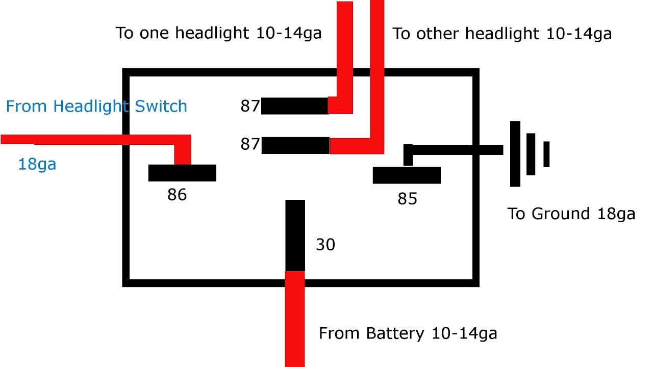 Why And How To Relay Headlights - Youtube - 5 Pin Relay Wiring Diagram