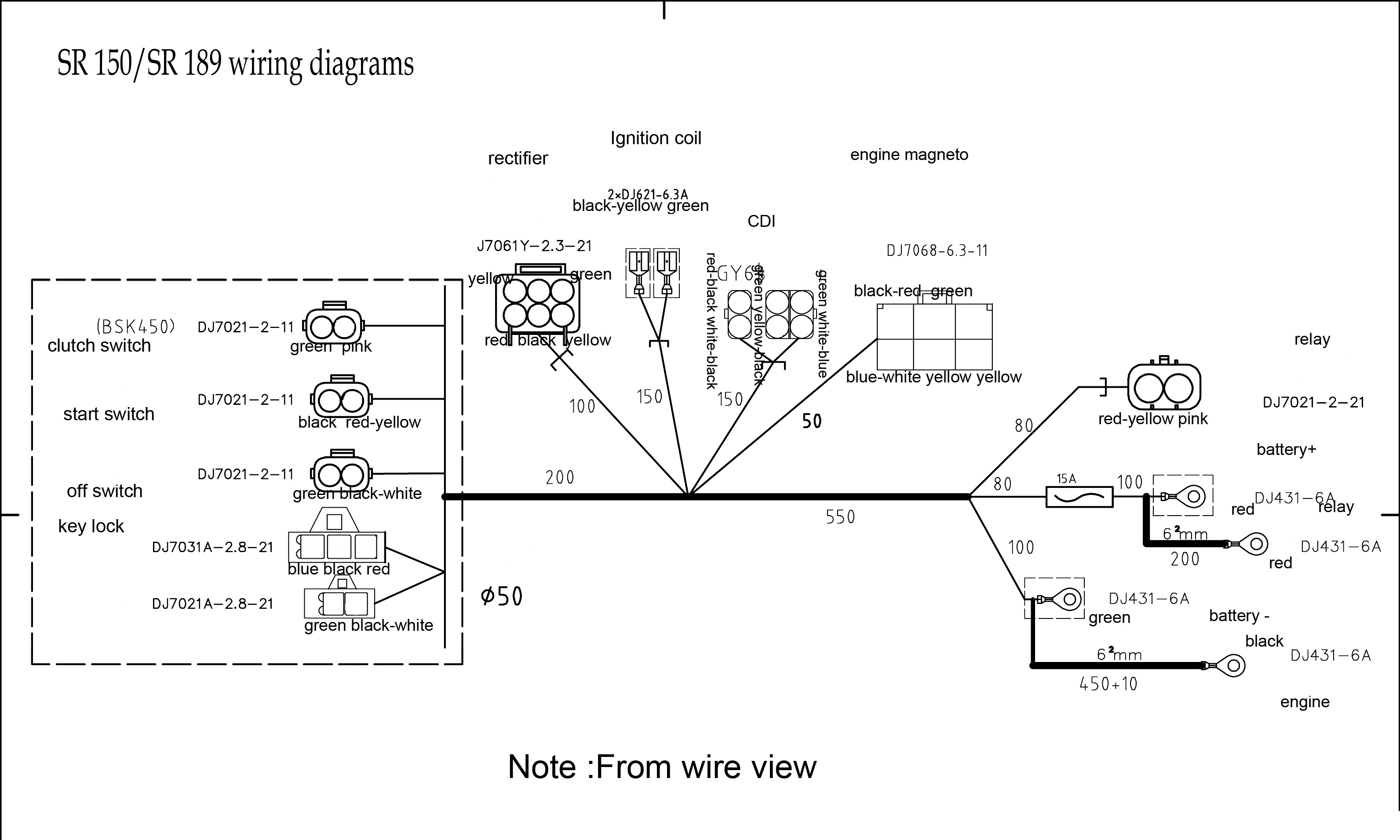 Wire Diagram - 6 Pin Cdi Wiring Diagram