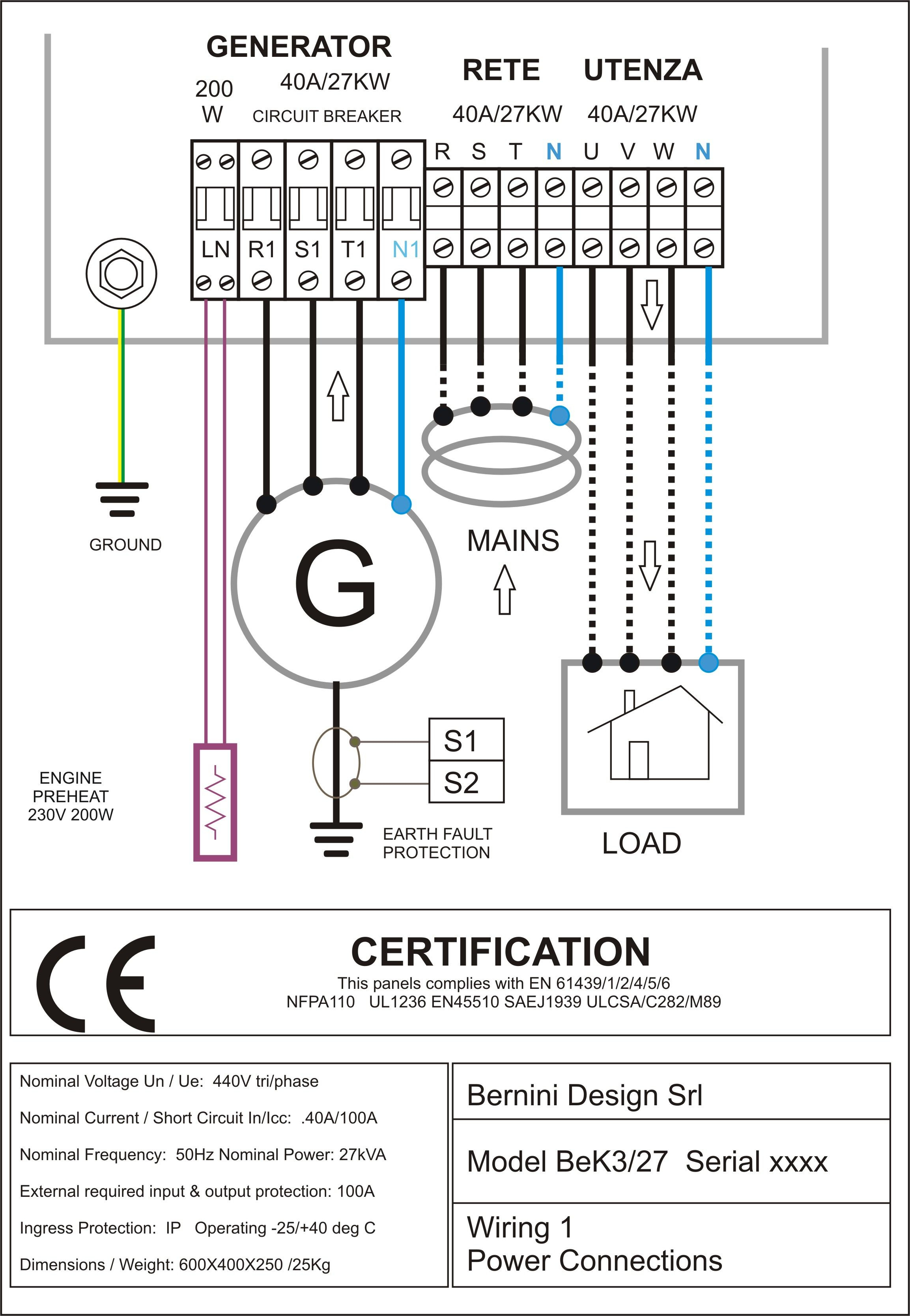 Wire Diagram For Generator   Wiring Library - Generator Wiring Diagram