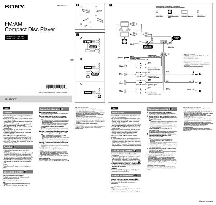 sony cdx gt32w wiring diagram