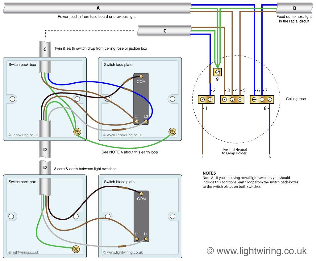 Wiring 2 Way Switches - Today Wiring Diagram - 2 Way Switch Wiring Diagram