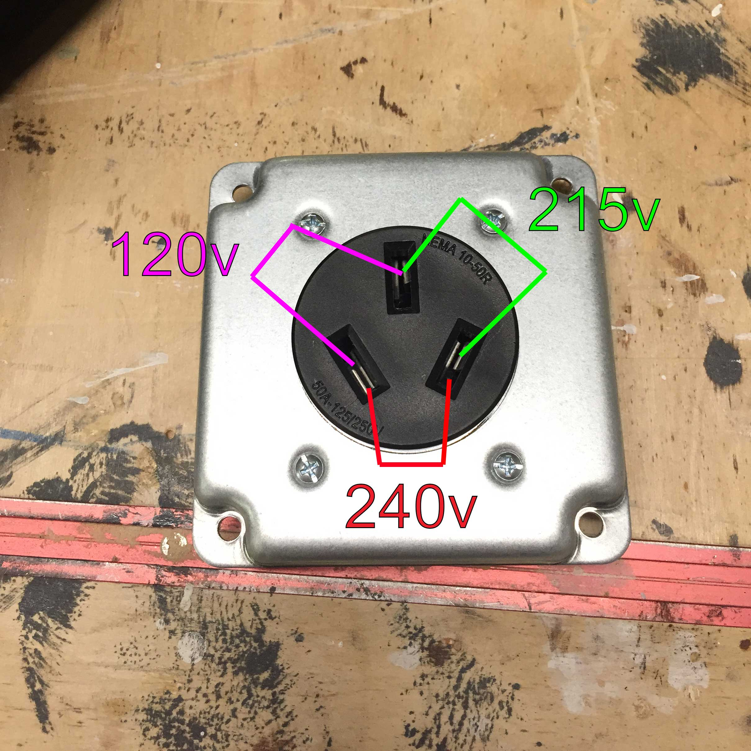 Wiring - 240V Outlet With 120V And 215V - How? - Home Improvement - 3 Wire 220 Volt Wiring Diagram