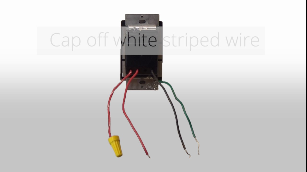 Wiring A 3 Way Dimmer In A Single Pole Application (With Wire Leads - Single Pole Dimmer Switch Wiring Diagram