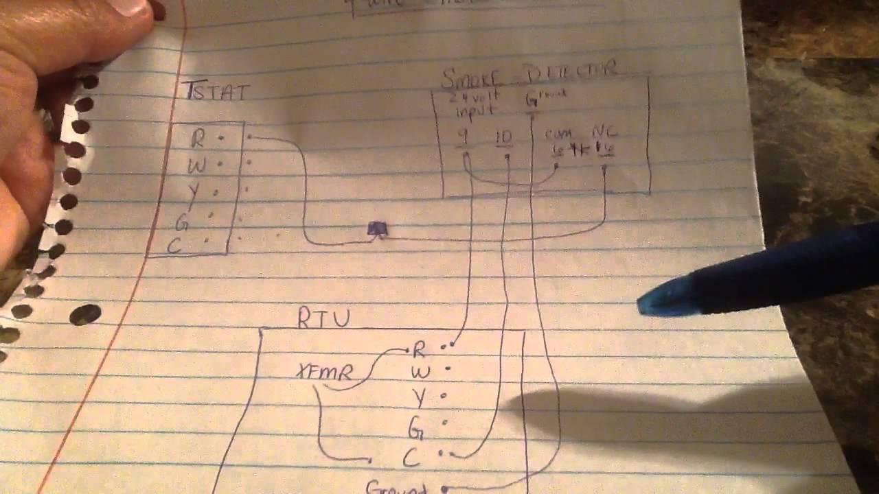 Wiring A Hvac Ducted Smoke Detector-Easy Way - Youtube - Smoke Detector Wiring Diagram