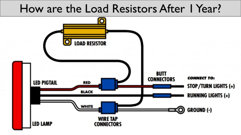 How Are Led  Lights Wired   Led Load Resistor Wiring Diagram Wirings Diagram