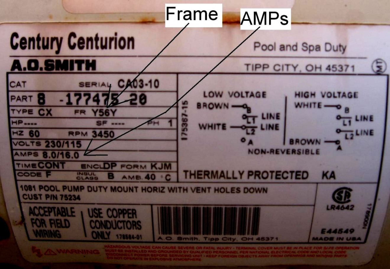 Wiring Diagram 115230 Motor Ao Smith - All Wiring Diagram Data - Century Ac Motor Wiring Diagram 115 230 Volts