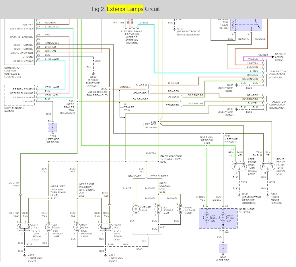 Wiring Diagram: Do You Have The Tail Light Wiring Diagram For A - Brake Light Turn Signal Wiring Diagram