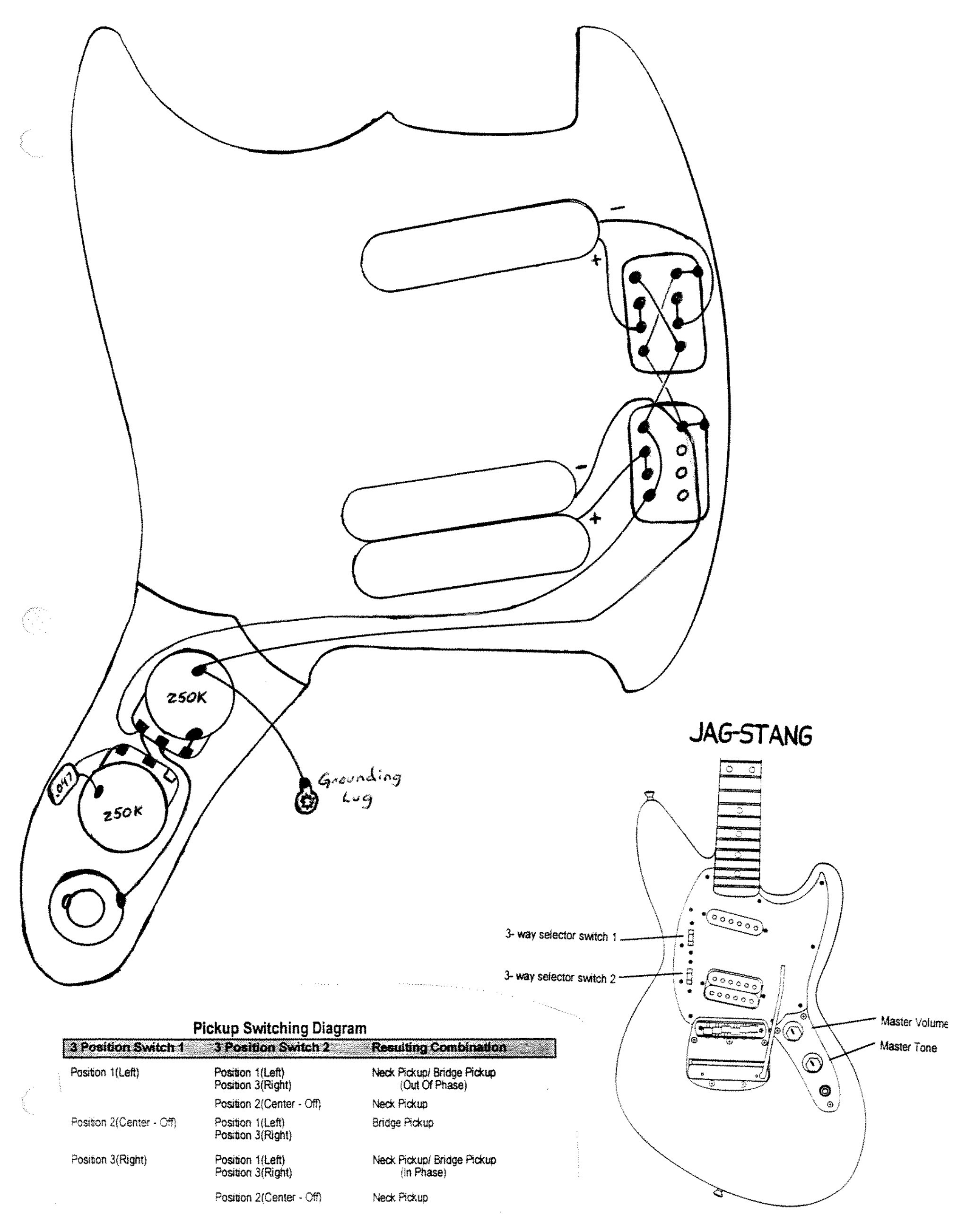 Wiring Diagram Fender Mustang Guitar Free Downloads Mustang Guitar - Fender Mustang Wiring Diagram