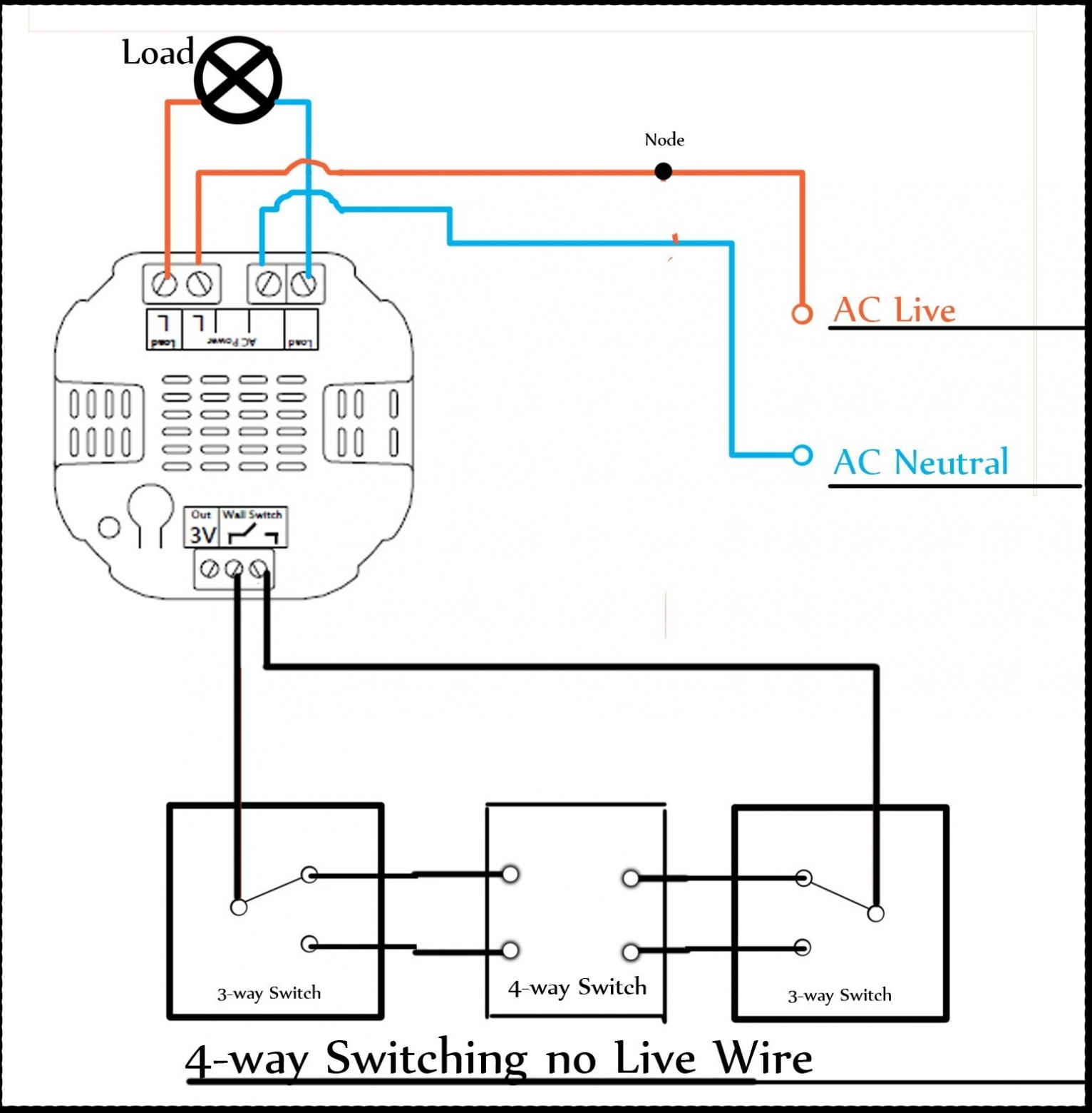 Wiring Diagram For 1 Way Dimmer Switch Save Dimm Switch Wiring - Dimming Switch Wiring Diagram