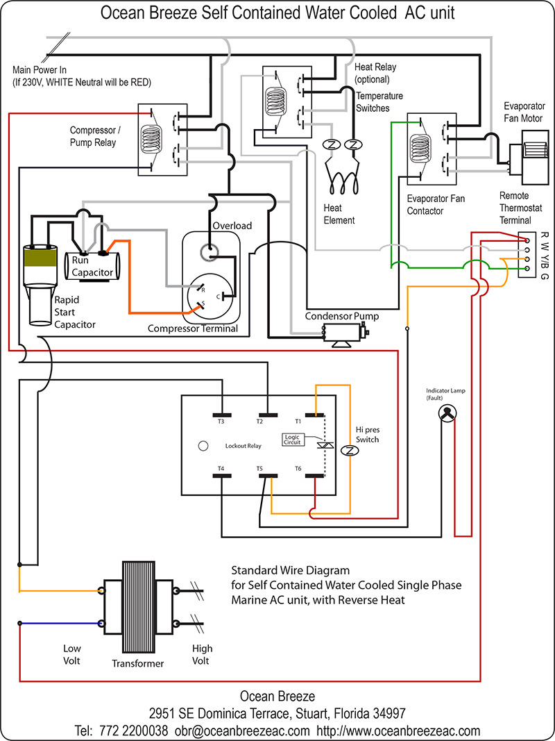 Wiring Diagram For Air Conditioning Unit - Wiring Diagram Data - Air Conditioner Wiring Diagram
