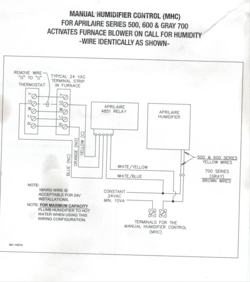Wiring Diagram For Aprilaire 600 | Wiring Diagram - Aprilaire 600 Wiring Diagram