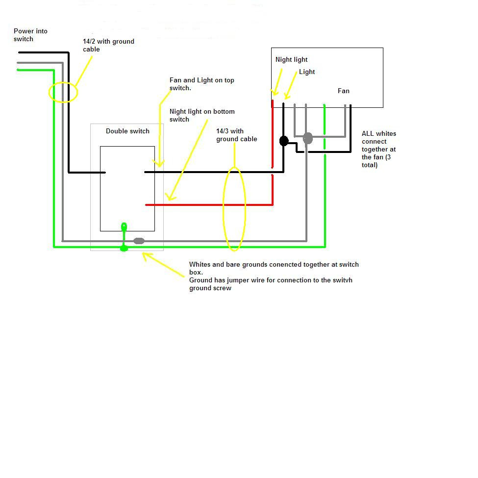 Wiring Diagram For Bathroom Fan Timer - Wiring Diagrams Hubs - Bathroom Wiring Diagram