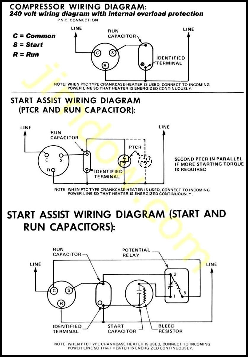 Wiring Diagram For Bristol Compressor - Wiring Diagram Detailed - Embraco Compressor Wiring Diagram