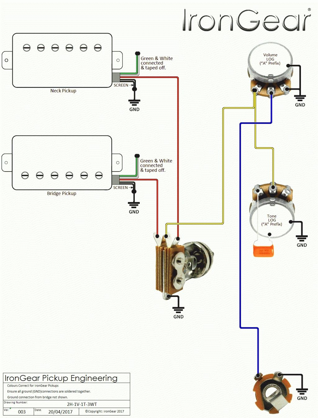 Wiring-Diagram-For-Electric-Bass-Guitar & P Bass Wiring Diagram - P Bass Wiring Diagram