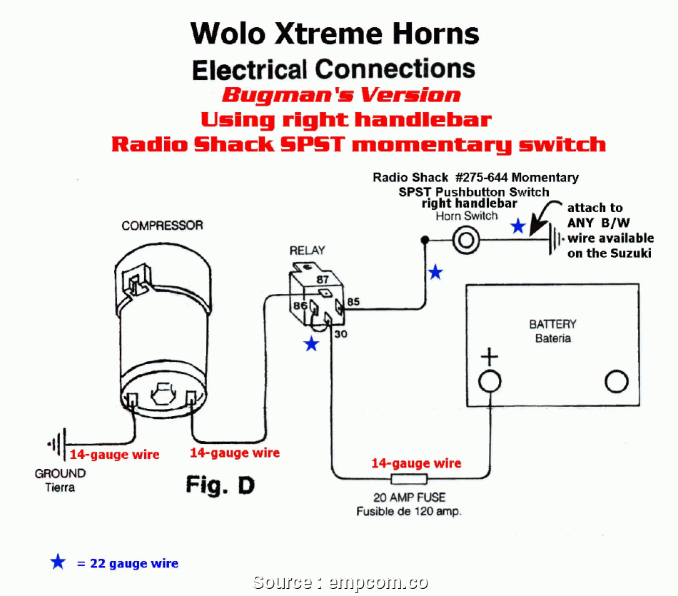 Wiring Diagram For Horn | Wiring Library - Air Horn Wiring Diagram