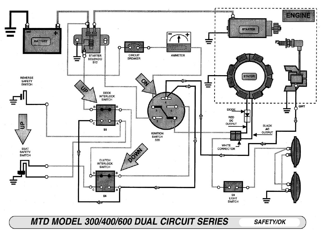 Wiring Diagram For Murray Ignition Switch Lawn Brilliant Riding - Murray Lawn Mower Ignition Switch Wiring Diagram