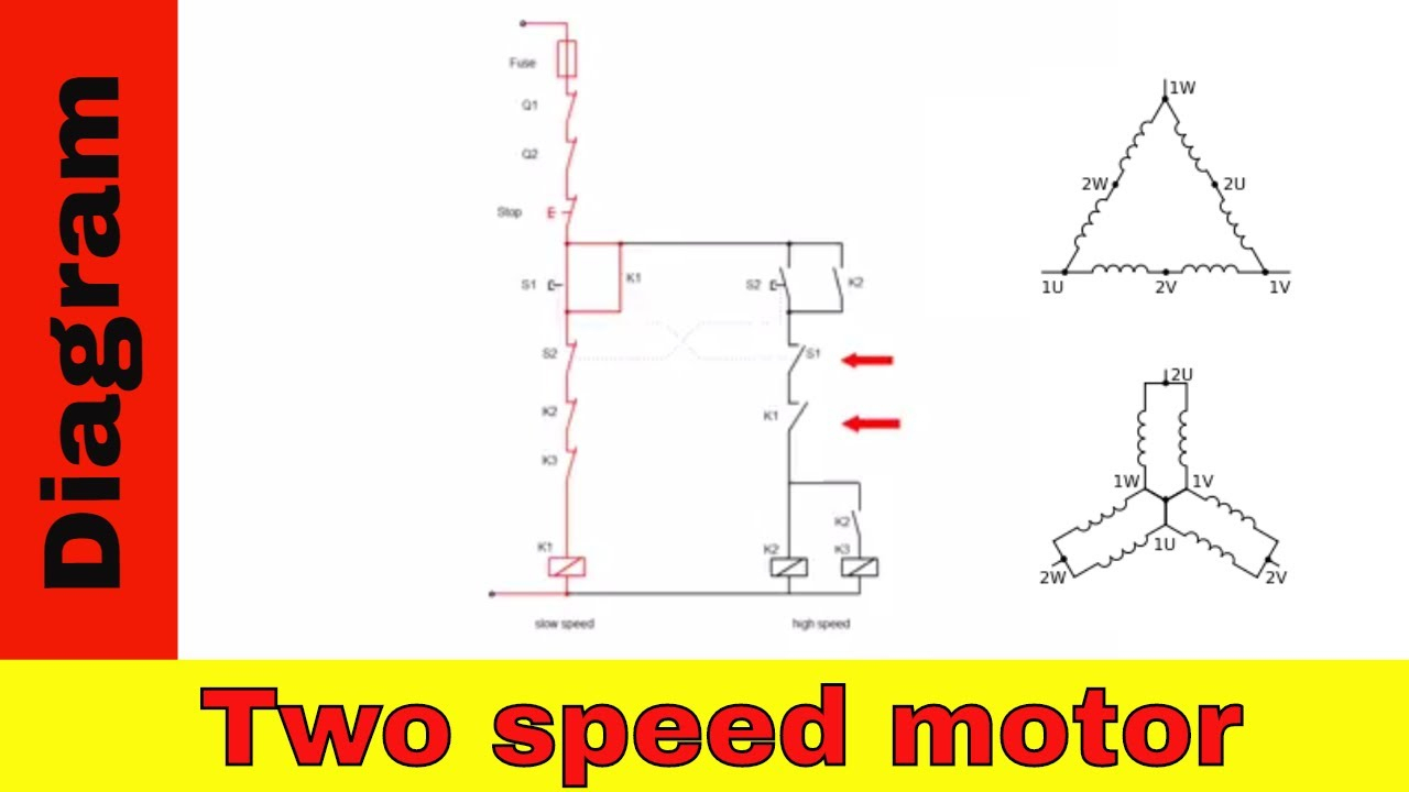 Wiring Diagram For Two Speed Motor. 3Ph 2 Speed Motor. - Youtube - 220V Wiring Diagram
