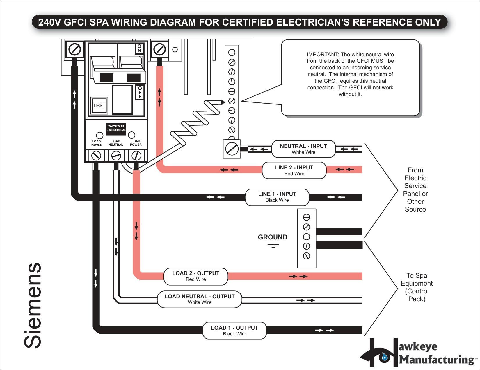 Wiring Diagram Gfci Breaker Example Of Wiring Diagram Gfci Outlet - 2 Pole Gfci Breaker Wiring Diagram
