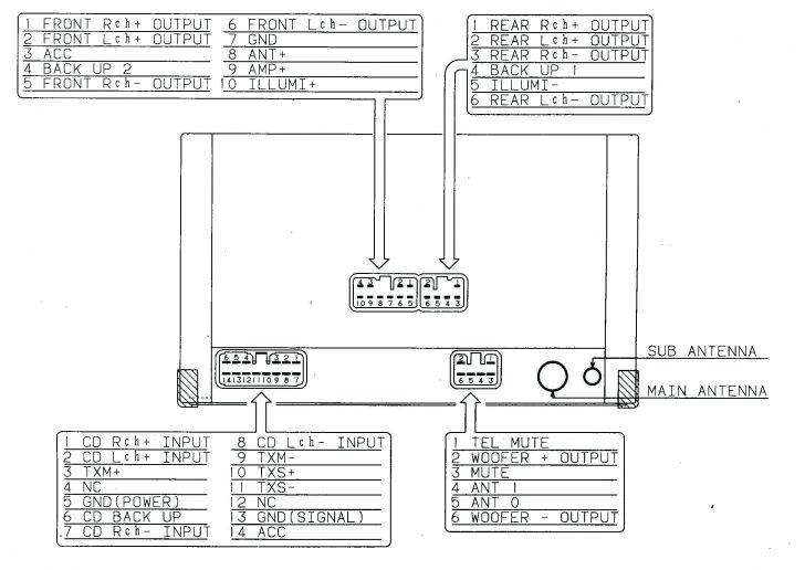 Pioneer Deh-X1810Ub Wiring Diagram
