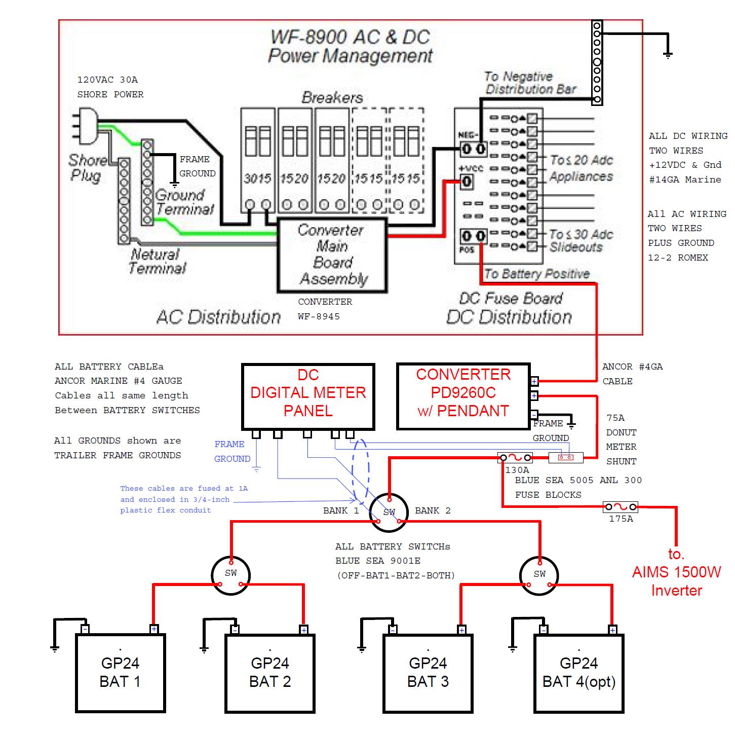 Wiring Diagram Troubleshooting Schematic Rv Power Converter Within - Rv Power Converter Wiring Diagram