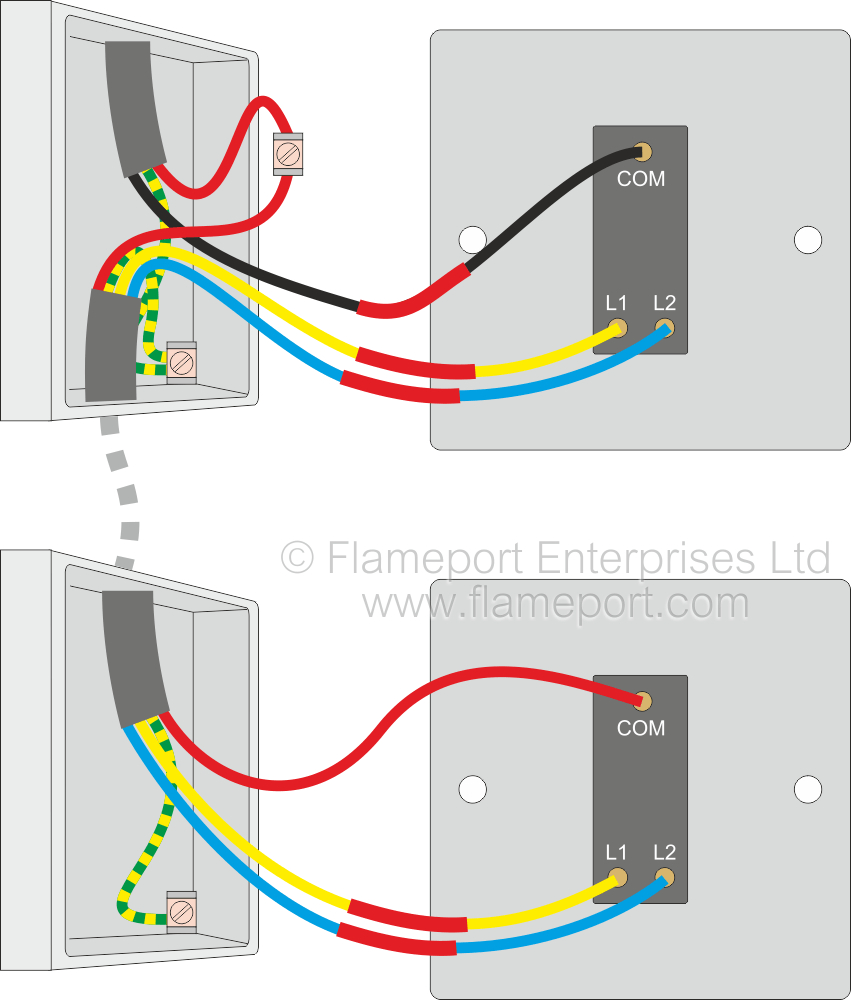 Wiring Diagram Two Way Switching For 2 Switch 1 Lighting Circuit - 2 Way Switch Wiring Diagram