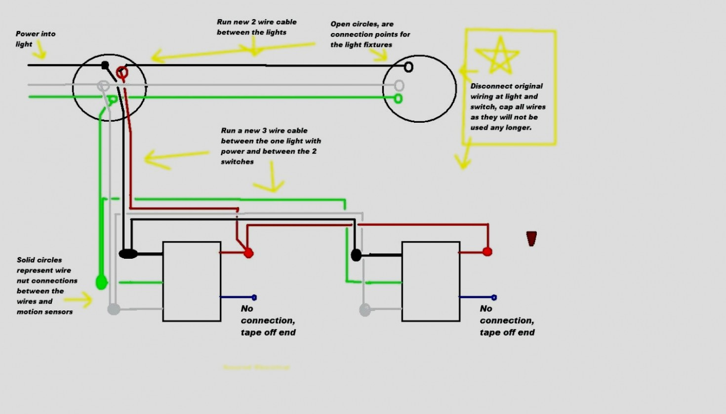 Wiring Diagrams Multiple Lights Motion - Wiring Diagram Data - Wiring A Motion Sensor Light Diagram