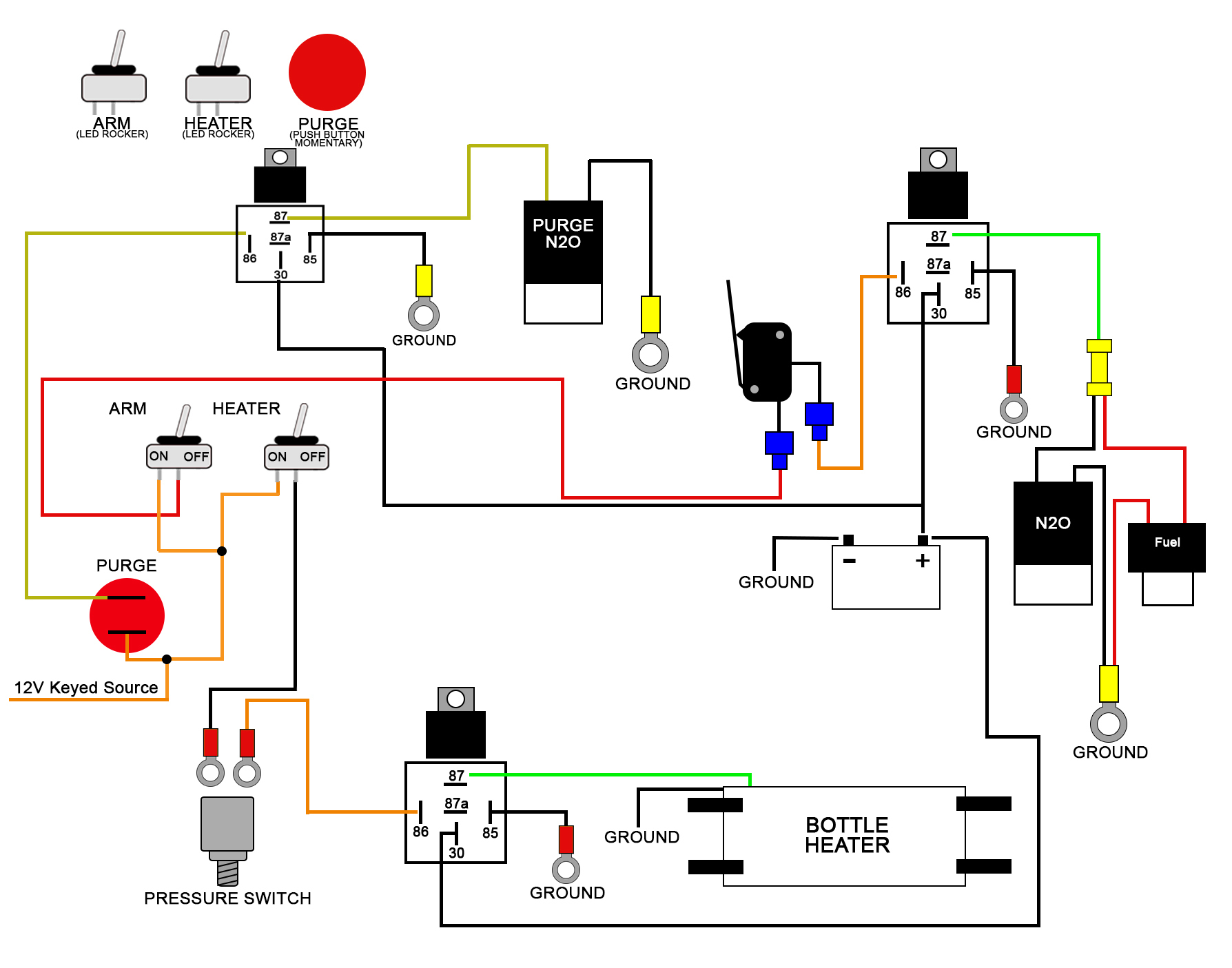 Wiring Diagrams - Push Button Switch Wiring Diagram