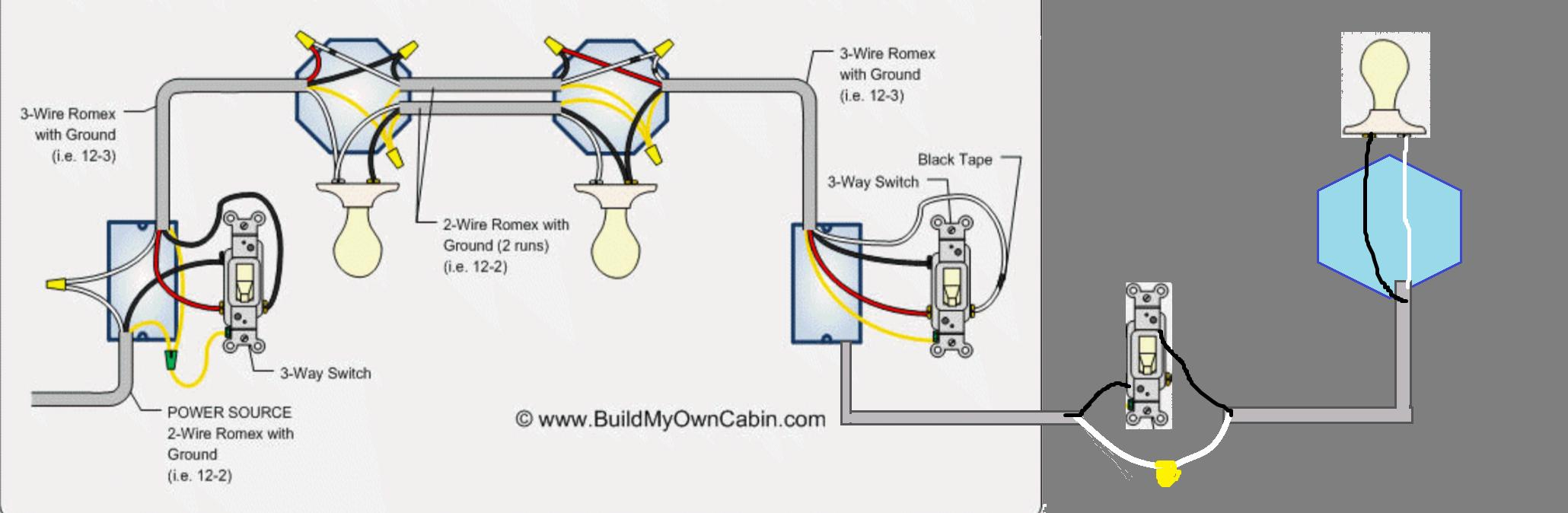 Wiring - Going From 3 Way Switch To A Regular Switch - Home - Three Way Switch Wiring Diagram