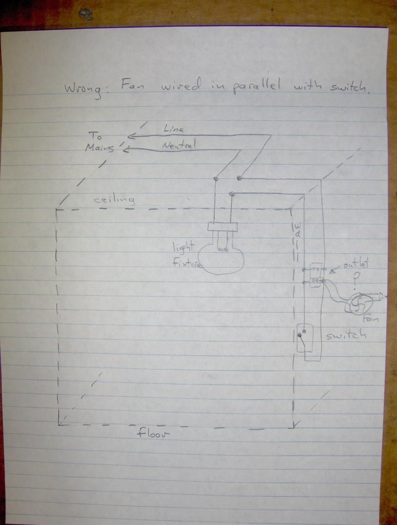 Wiring Up A Bathroom Exhaust Fan-How To? - Wiring A Bathroom Fan And Light Diagram