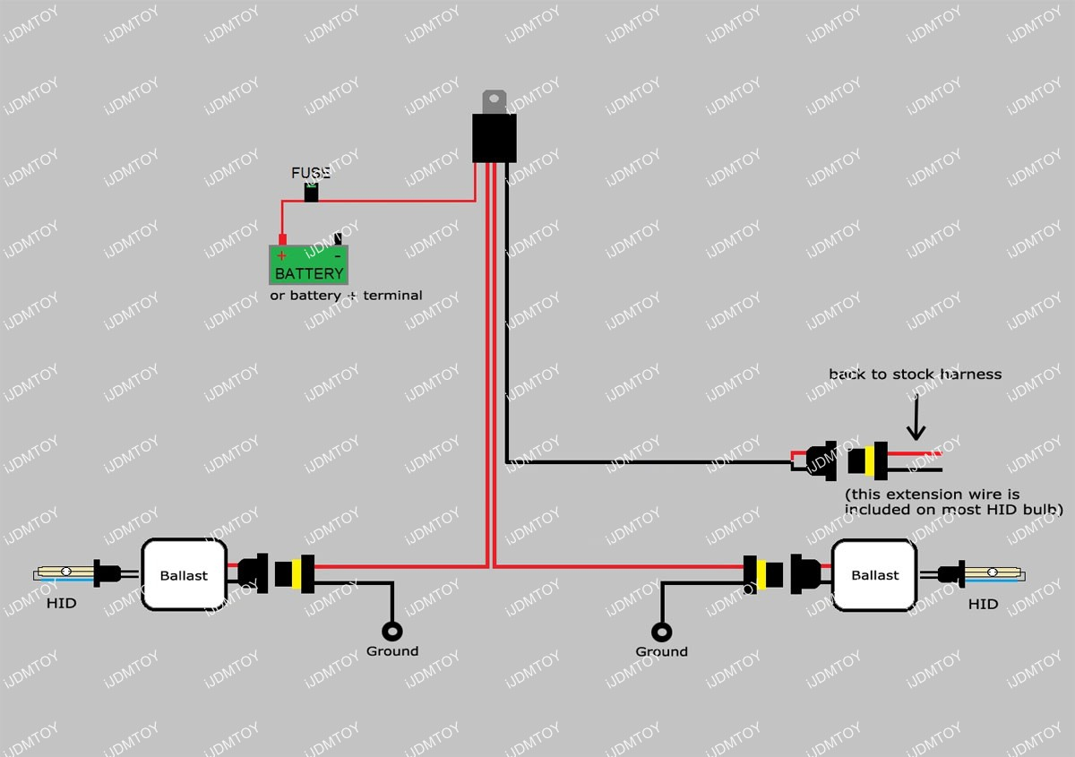 Xenon Headlamp Kit Wire | Hid Relay Kit | Hid Relay Harness Wiring - Hid Wiring Diagram With Relay