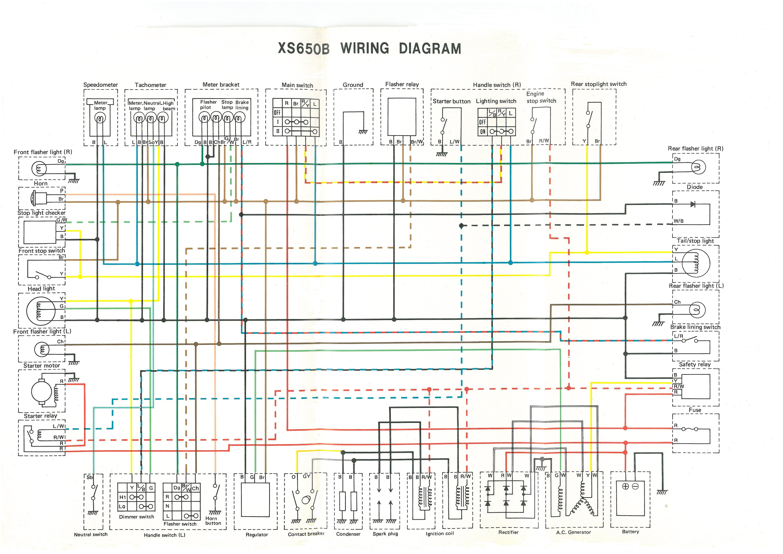 Xs650: 75 Xs-B 76 Xs-C Wiring Diagram | Thexscafe - Xs650 Wiring Diagram