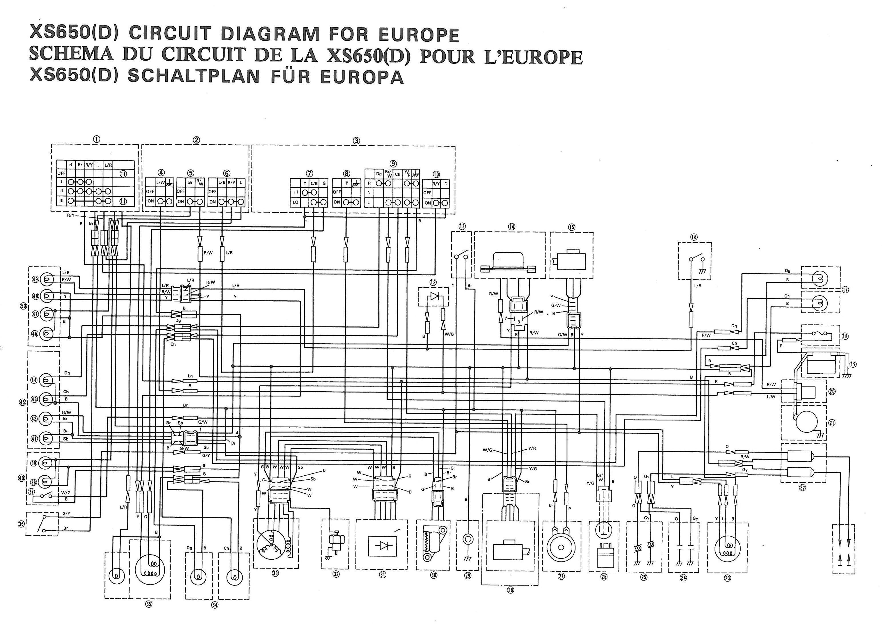 Xs650: 77 Xs-D Wiring Diagram | Thexscafe - Xs650 Wiring Diagram