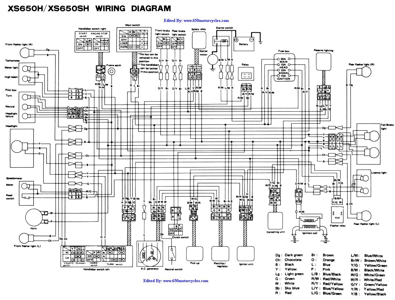 Xs650 Chopper Wiring Diagrams - Wiring Diagram