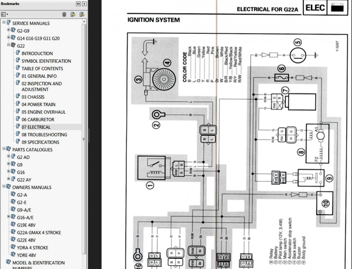 Yamaha G19E Wiring Diagram   Manual E-Books - Yamaha Golf Cart Wiring Diagram