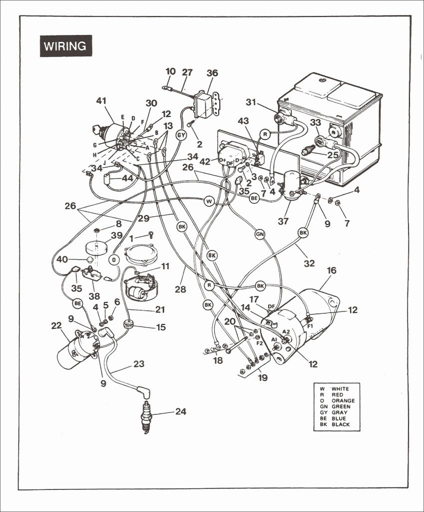Yamaha Golf Cart Solenoid Wiring Diagram - Zookastar - Yamaha Golf Cart Wiring Diagram