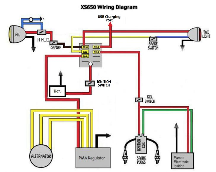 Excellent Yamaha Xs650 Wiring Diagram Wirings Diagram Wiring 101 Akebretraxxcnl