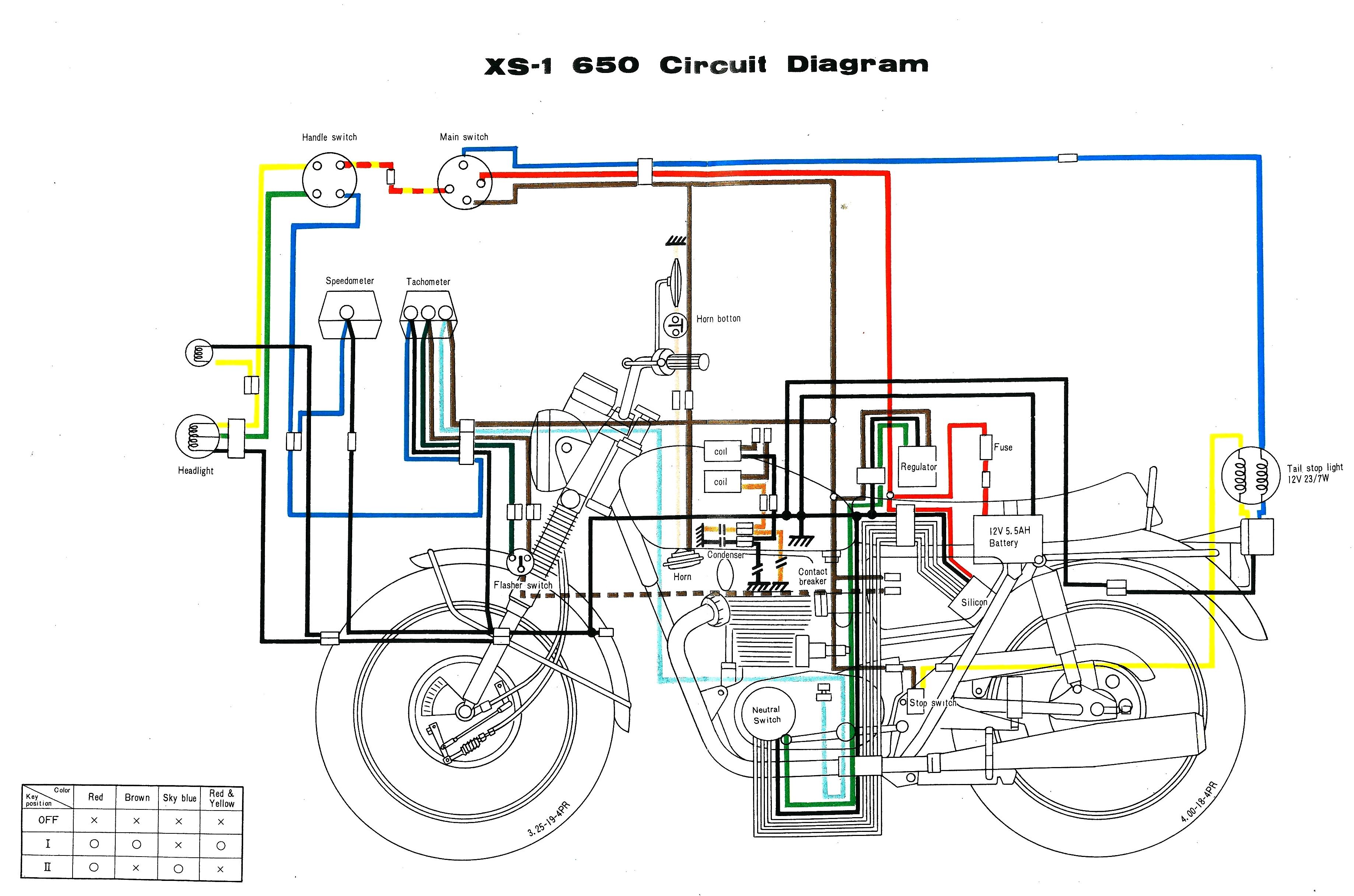 Yamaha Xs650 Wiring Harness Diagram | Manual E-Books - Xs650 Wiring Diagram