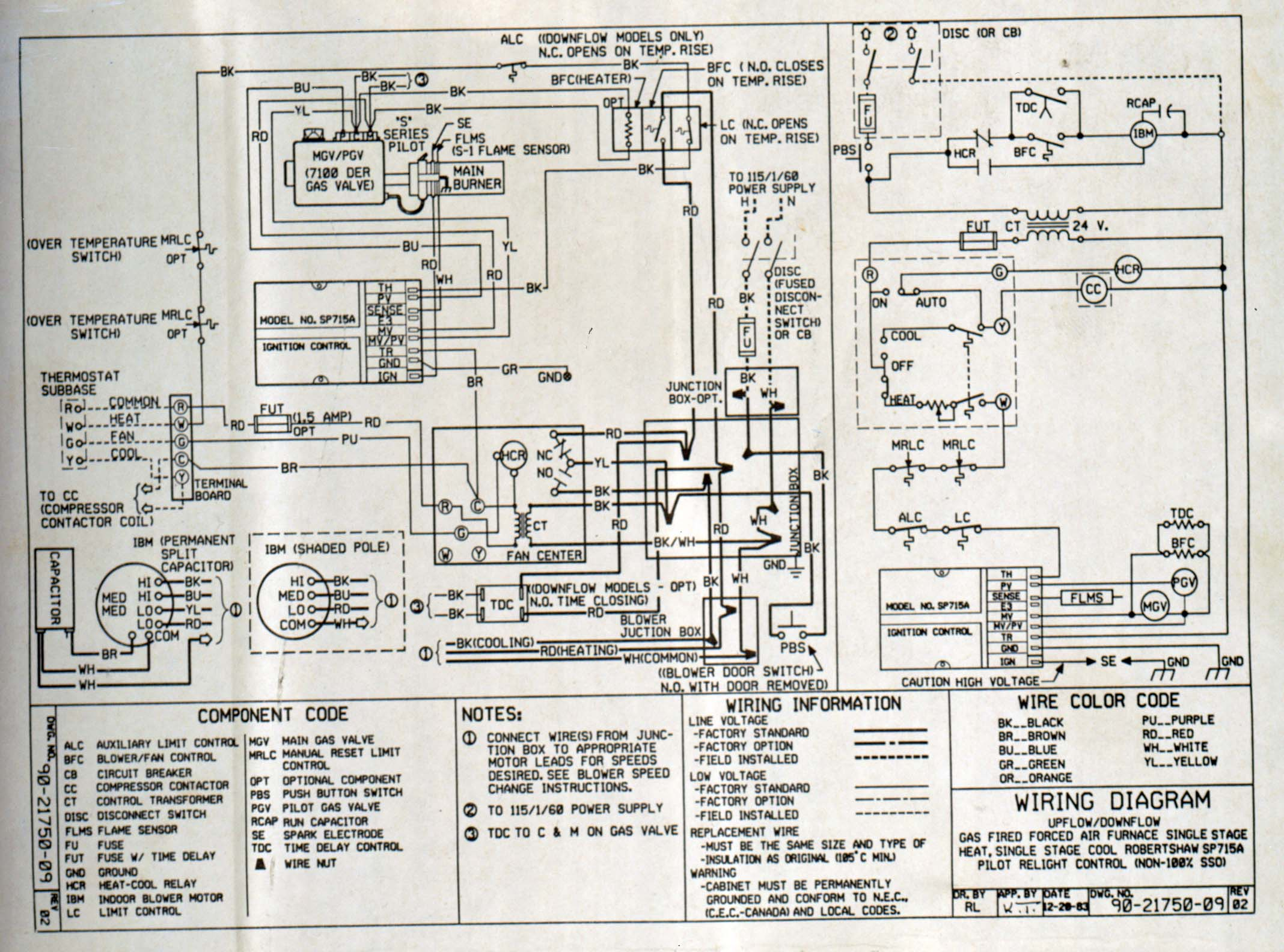 York Gas Furnace Wiring Diagram - Wiring Diagram Data Oreo - Furnace Wiring Diagram