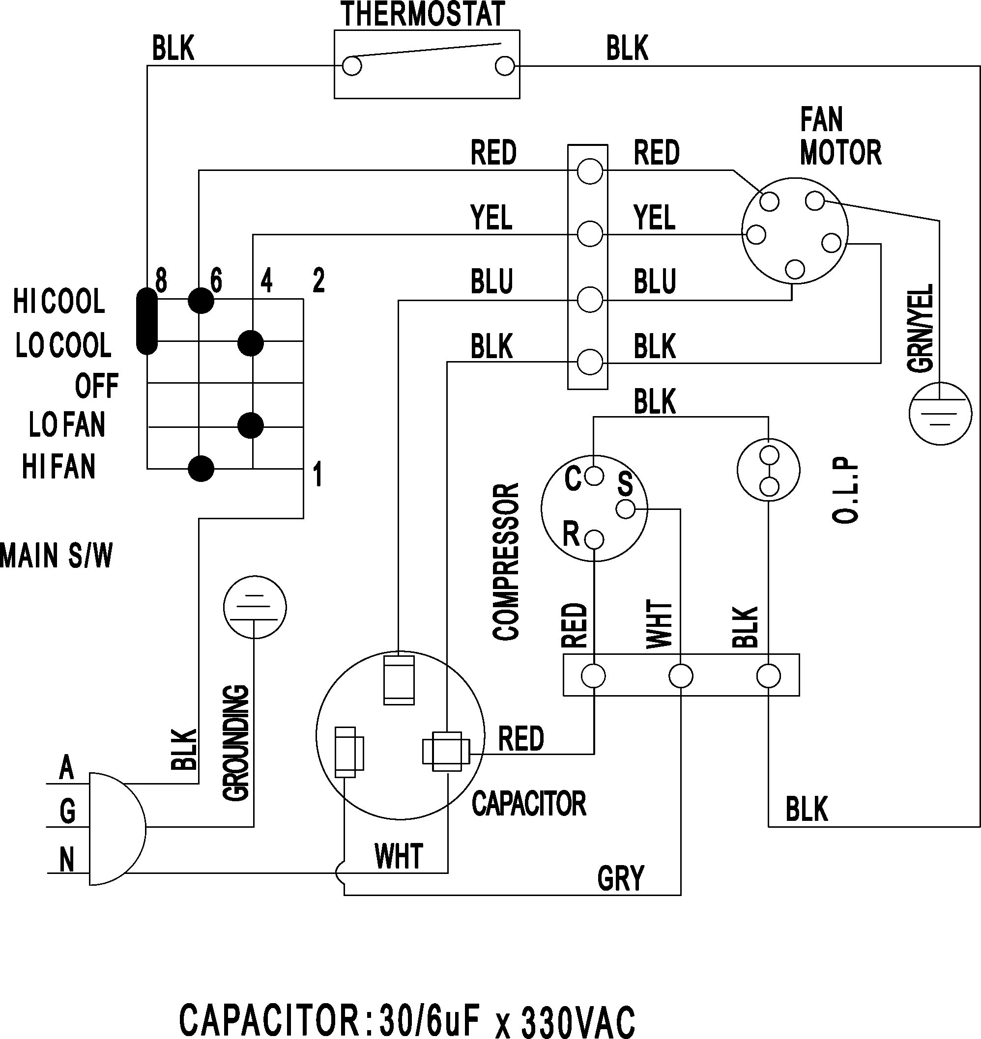 York Motor Wiring Diagram - Wiring Diagram Data Oreo - Motor Wiring Diagram