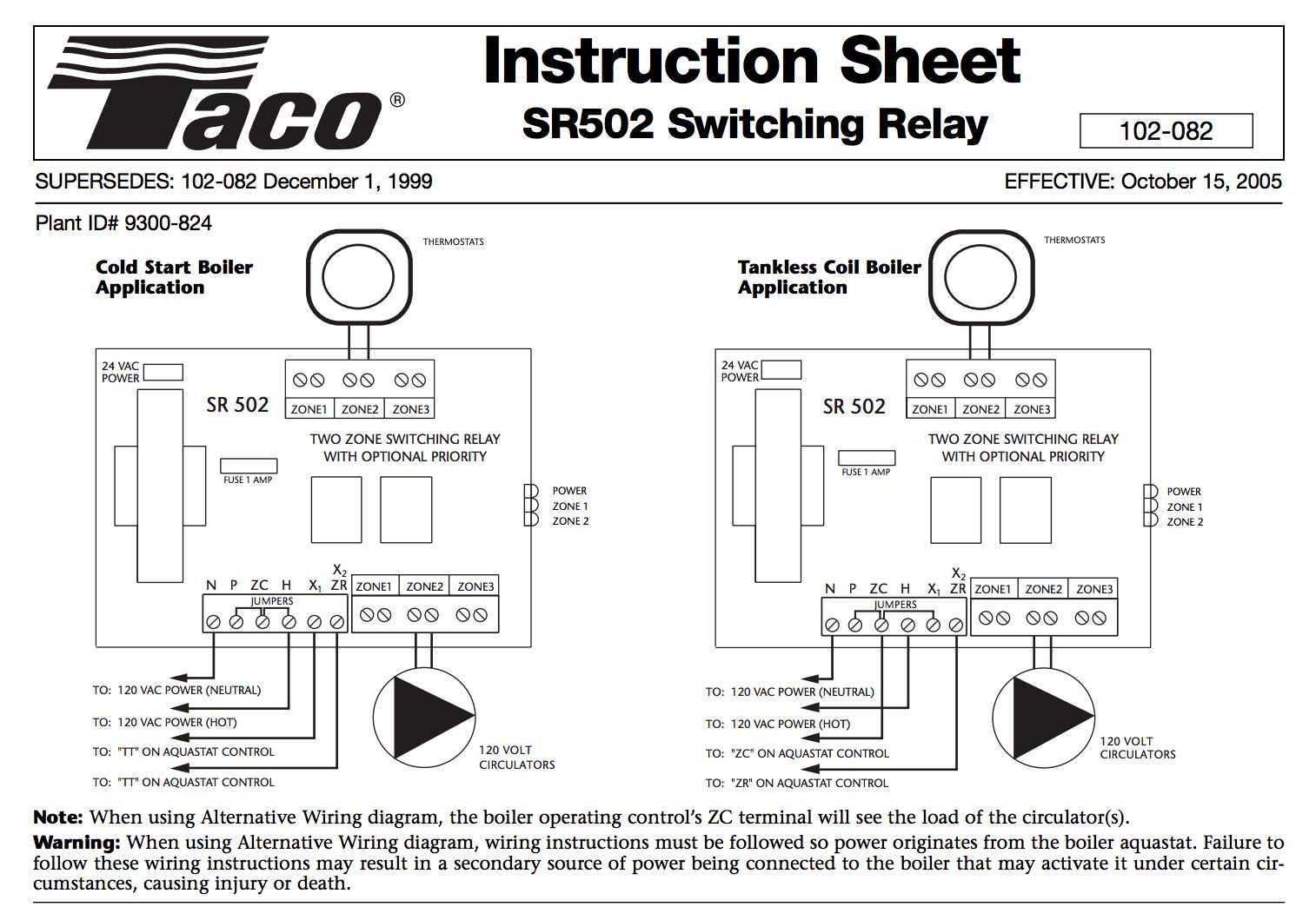 Zone Valve Wiring Installation & Instructions: Guide To Heating - Taco Zone Valve Wiring Diagram